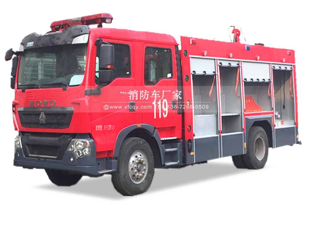 重汽T5G 5吨水罐消防车