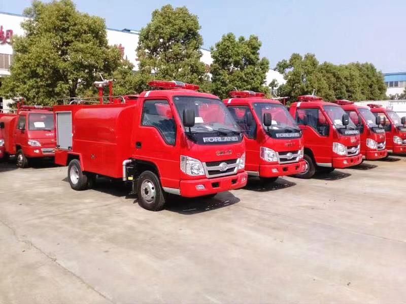 8台小型消防车发往云南