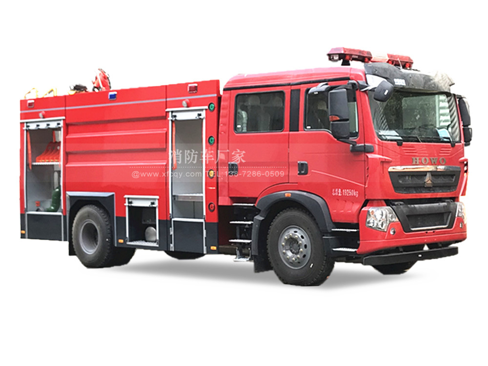 重汽T5G8吨泡沫消防车