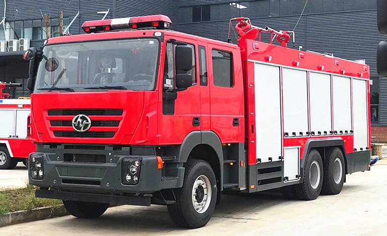红岩国六6吨纯干粉消防车详细参数与厂家报价【附高清图】