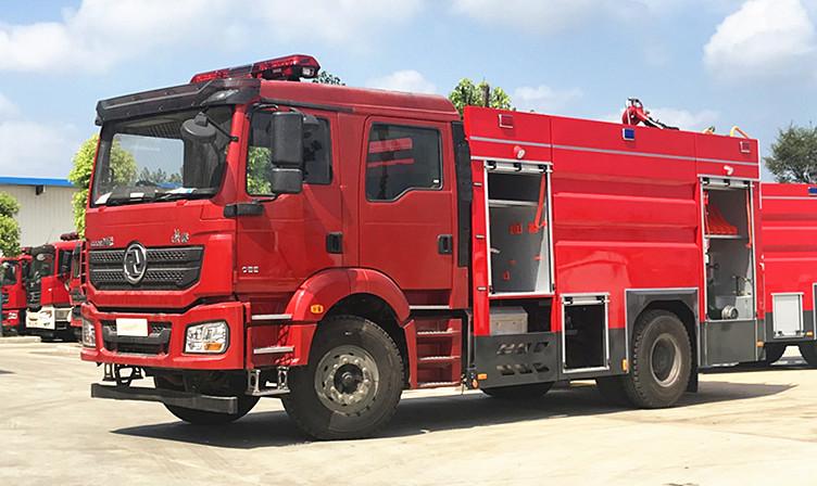 【陕汽消防车】国六陕汽德龙9吨水罐消防车图片配置与价格