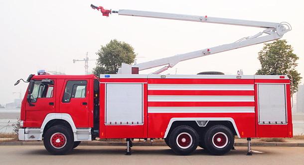 举高喷射消防车:高喷消防车价格与操作注意事项【附图】