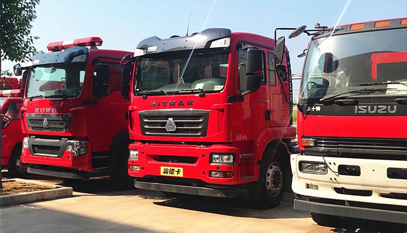 广东佛山消防车用户:消防队来消防车厂家采购汕德卡消防车【在线报价】