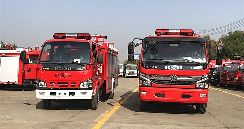 江苏消防车用户:五十铃3吨消防车,东风5吨消防车发往宿迁