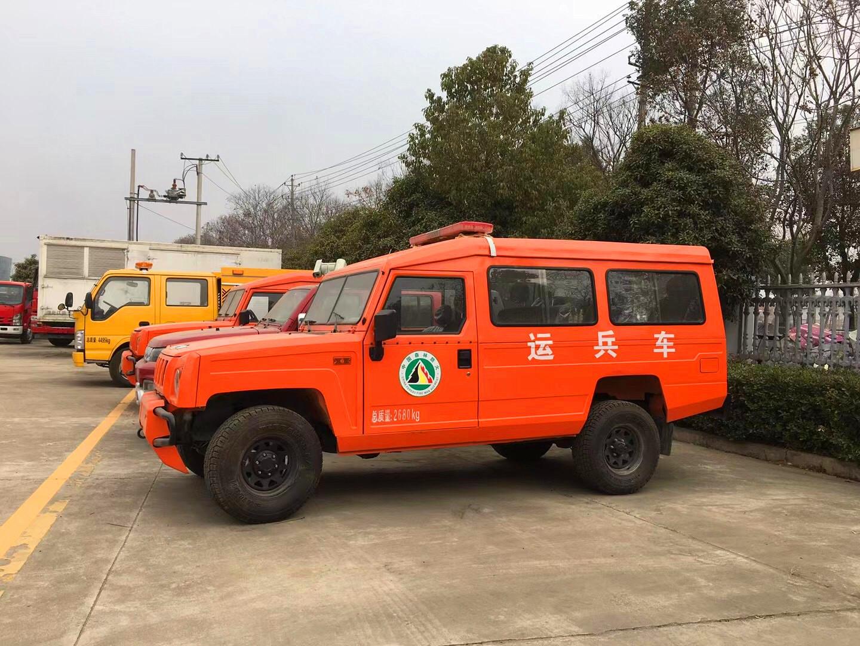 北汽四驱8座森林消防运兵车